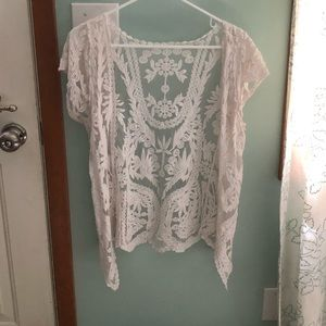 Short Sleeve Lace Cover